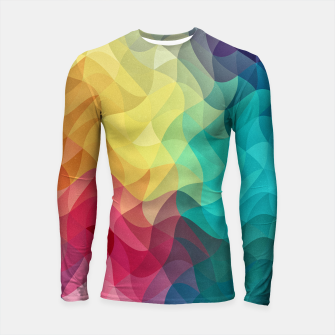 Thumbnail image of Abstract Color Wave Flash Longsleeve rashguard , Live Heroes