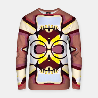 Miniature de image de skull with glasses and mustache and brown background Cotton sweater, Live Heroes