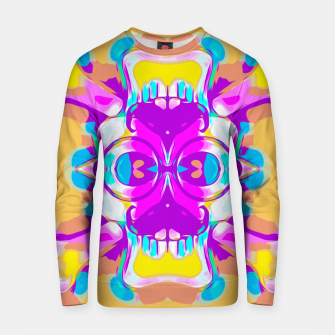 Miniature de image de pink and purple graffiti skull head portrait with glasses and mustache  Cotton sweater, Live Heroes