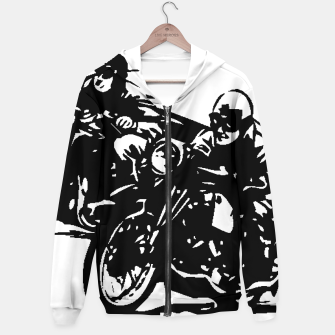 Thumbnail image of BUILT FOR SPEED-BOARD RACING Cotton zip up hoodie, Live Heroes