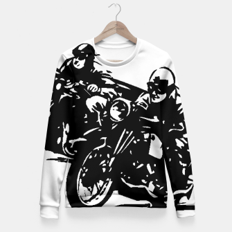 Thumbnail image of BUILT FOR SPEED-BOARD RACING Woman cotton sweater, Live Heroes