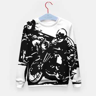 Thumbnail image of BUILT FOR SPEED-BOARD RACING Kid's sweater, Live Heroes