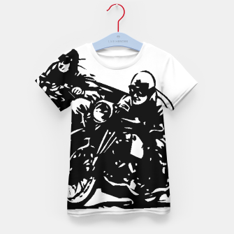 Thumbnail image of BUILT FOR SPEED-BOARD RACING Kid's t-shirt, Live Heroes