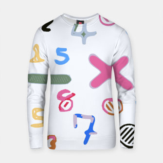 Thumbnail image of handwriting colorful number Cotton sweater, Live Heroes