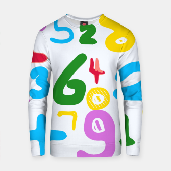 Thumbnail image of colorful handwriting number Cotton sweater, Live Heroes