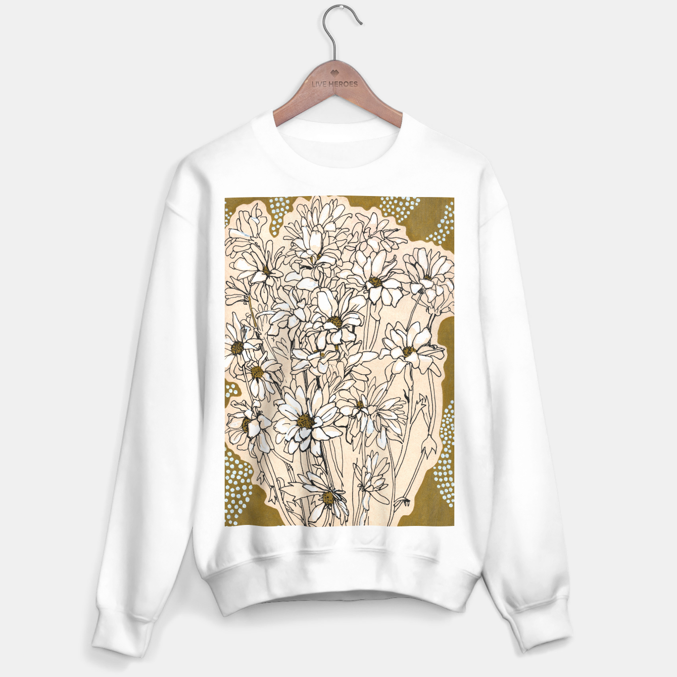 Image of Daisy Chrysanthemum  Sweater regular - Live Heroes