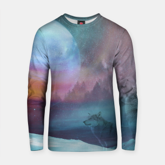 Thumbnail image of Howling at the moon Cotton sweater, Live Heroes