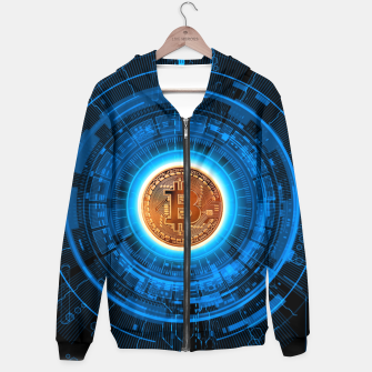 Thumbnail image of BITCOIN-CRYPTO Cotton zip up hoodie, Live Heroes