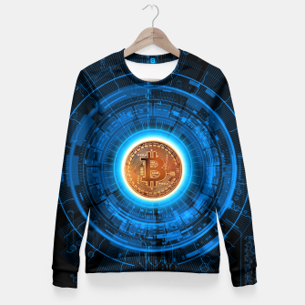 Thumbnail image of BITCOIN-CRYPTO Woman cotton sweater, Live Heroes