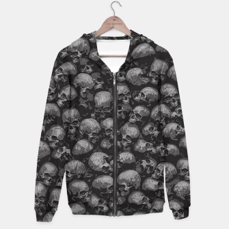 Thumbnail image of Totally Gothic Cotton zip up hoodie, Live Heroes