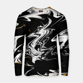 Thumbnail image of Black, White and Gold Marble Cotton sweater, Live Heroes