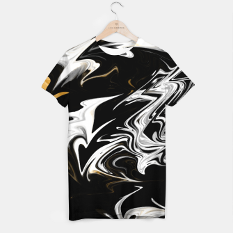 Thumbnail image of Black, White and Gold Marble T-shirt, Live Heroes