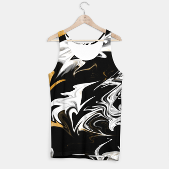 Thumbnail image of Black, White and Gold Marble Tank Top, Live Heroes