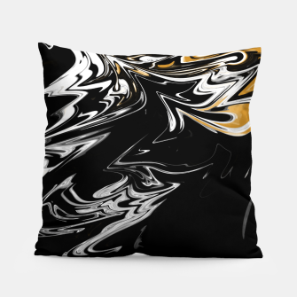 Thumbnail image of Black, White and Gold Marble Pillow, Live Heroes
