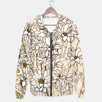 Thumbnail image of Daisy Chrysanthemum  Cotton zip up hoodie, Live Heroes