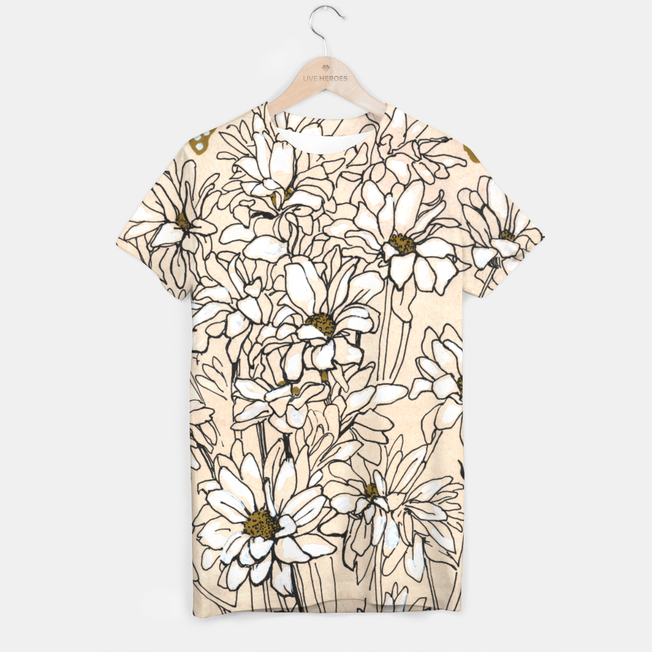 Image of Daisy Chrysanthemum  T-shirt - Live Heroes