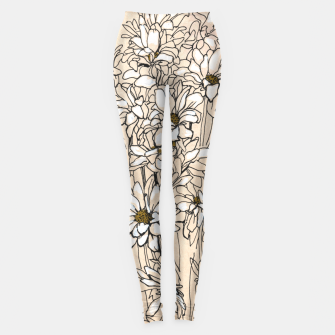 Thumbnail image of Daisy Chrysanthemum  Leggings, Live Heroes