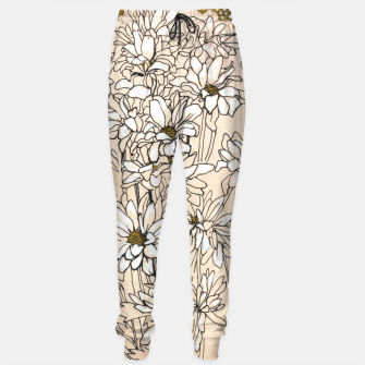 Daisy Chrysanthemum  Cotton sweatpants thumbnail image