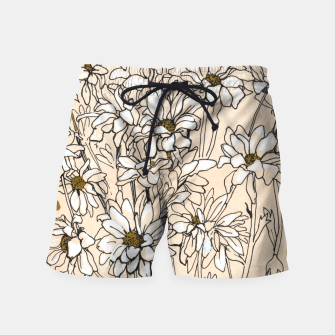Thumbnail image of Daisy Chrysanthemum  Swim Shorts, Live Heroes