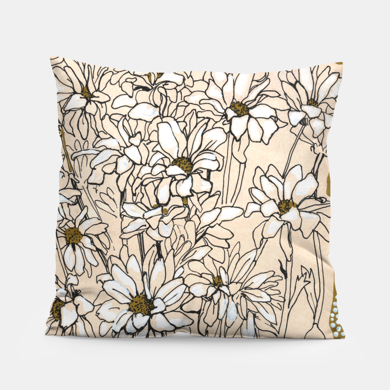 Image of Daisy Chrysanthemum  Pillow - Live Heroes