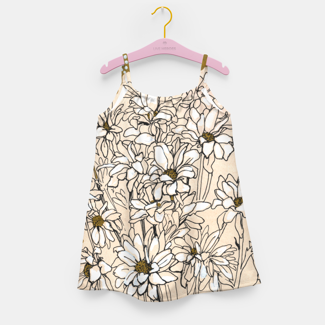 Image of Daisy Chrysanthemum  Girl's dress - Live Heroes