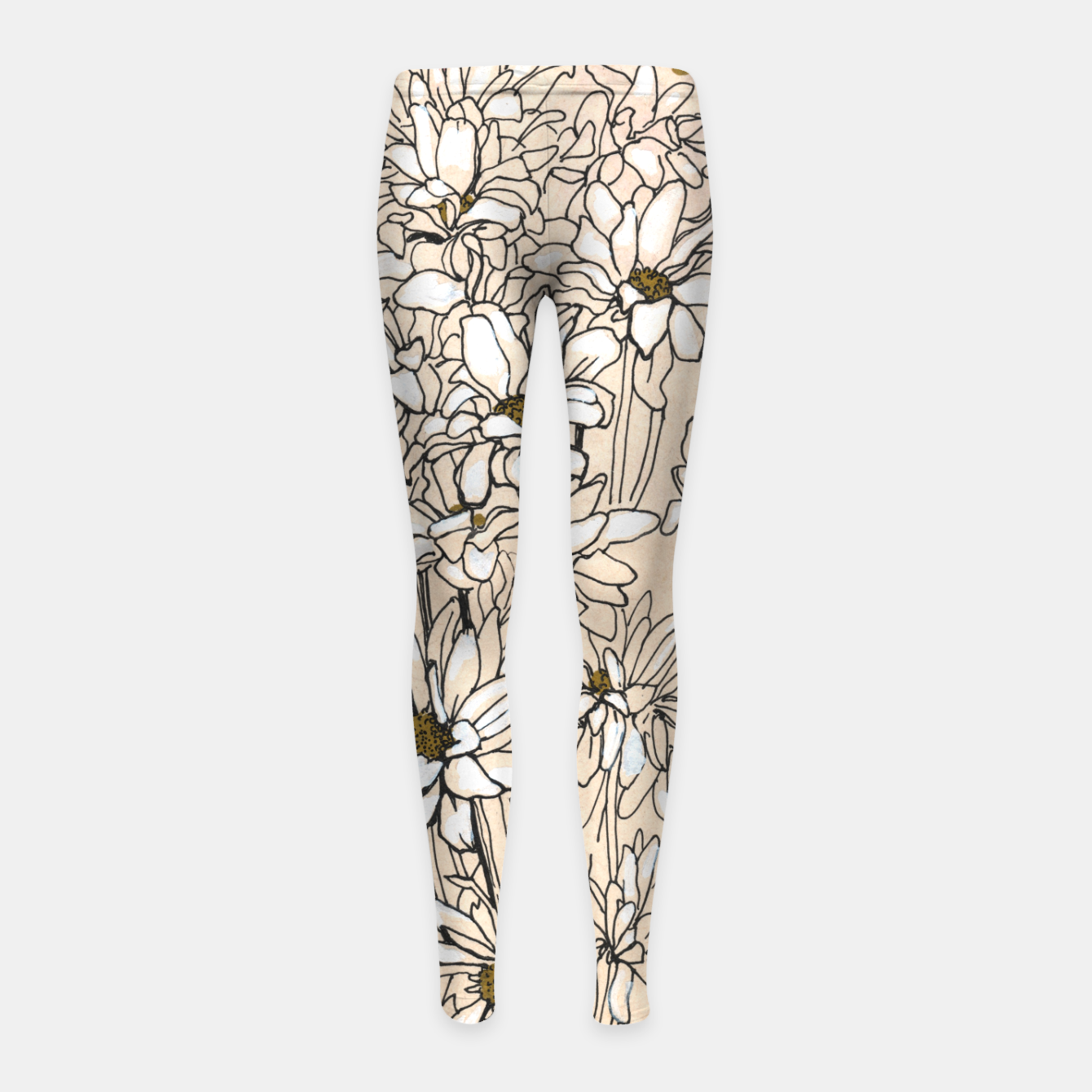 Image of Daisy Chrysanthemum  Girl's leggings - Live Heroes