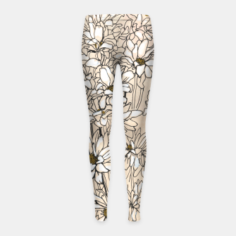 Thumbnail image of Daisy Chrysanthemum  Girl's leggings, Live Heroes