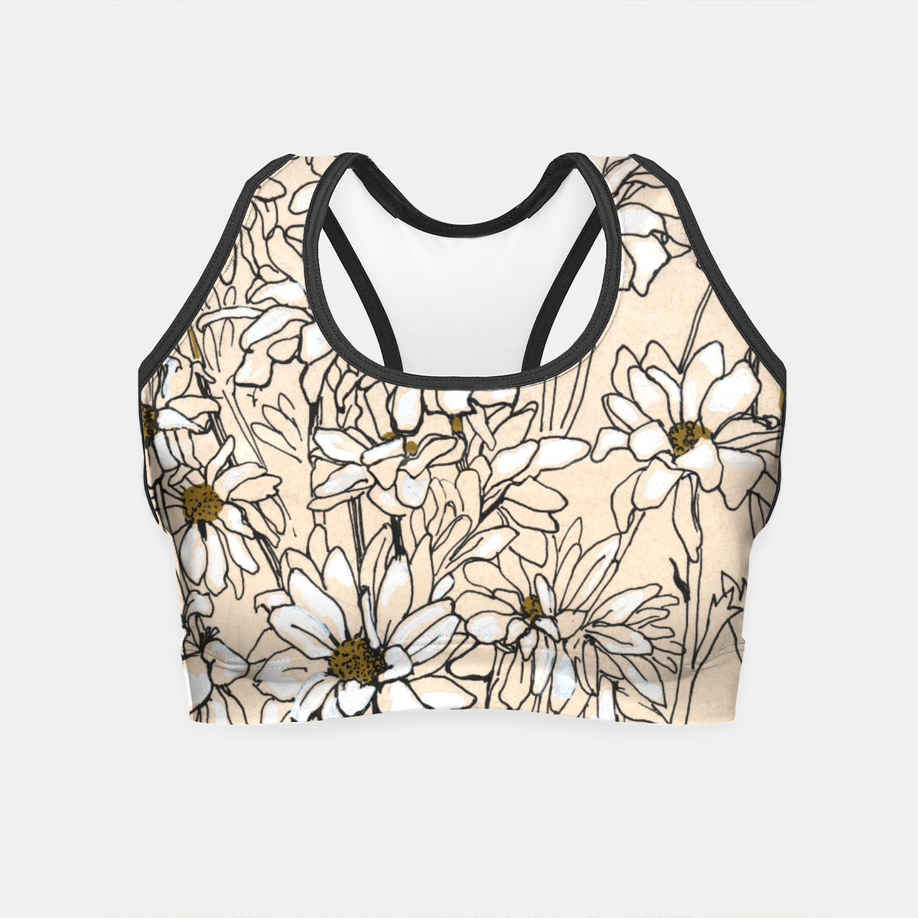 Image of Daisy Chrysanthemum  Crop Top - Live Heroes