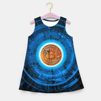 Thumbnail image of BITCOIN-CRYPTO Girl's summer dress, Live Heroes