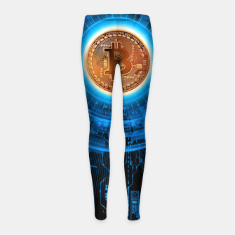 Thumbnail image of BITCOIN-CRYPTO Girl's leggings, Live Heroes