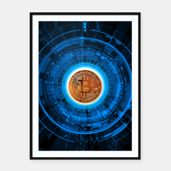 Thumbnail image of BITCOIN-CRYPTO Framed poster, Live Heroes
