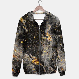 Miniatur Black Gold Galaxy Cotton zip up hoodie, Live Heroes