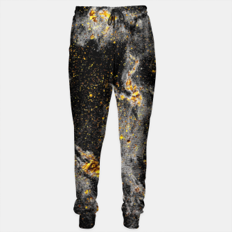 Thumbnail image of Black Gold Galaxy Cotton sweatpants, Live Heroes