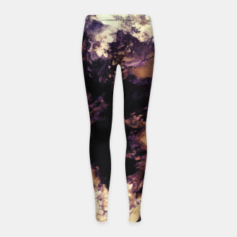 Hidden dog Girl's leggings Bild der Miniatur