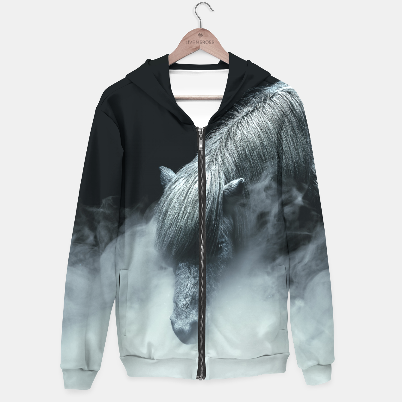 Image of Things change Cotton zip up hoodie - Live Heroes