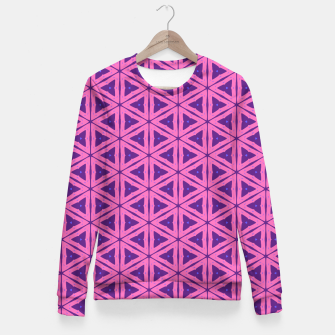 Miniatur abstract geometric pattern Woman cotton sweater, Live Heroes
