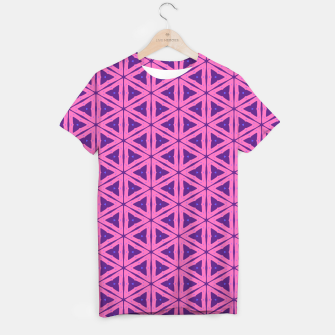 Miniatur abstract geometric pattern T-shirt, Live Heroes
