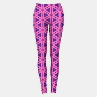 Miniatur abstract geometric pattern Leggings, Live Heroes