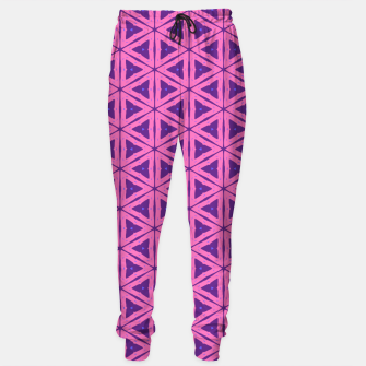 Miniatur abstract geometric pattern Cotton sweatpants, Live Heroes