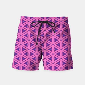 Miniatur abstract geometric pattern Swim Shorts, Live Heroes