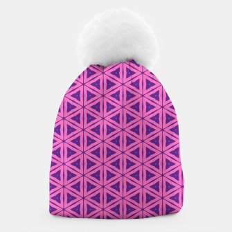 Miniatur abstract geometric pattern Beanie, Live Heroes
