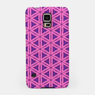 Miniatur abstract geometric pattern Samsung Case, Live Heroes