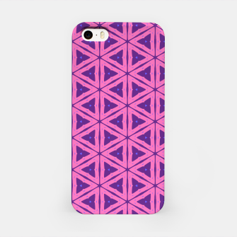 Miniatur abstract geometric pattern iPhone Case, Live Heroes