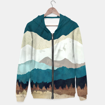 Thumbnail image of Fall Forest Night Cotton zip up hoodie, Live Heroes