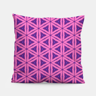 Miniatur abstract geometric pattern Pillow, Live Heroes