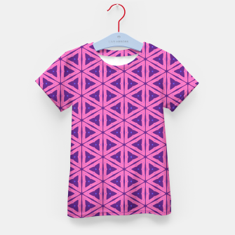 Miniatur abstract geometric pattern Kid's t-shirt, Live Heroes