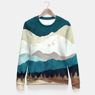Thumbnail image of Fall Forest Night Woman cotton sweater, Live Heroes