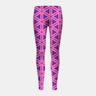 Miniaturka abstract geometric pattern Girl's leggings, Live Heroes