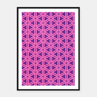 Miniatur abstract geometric pattern Framed poster, Live Heroes