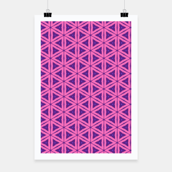 Miniatur abstract geometric pattern Poster, Live Heroes